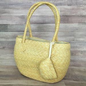 San Diego Hat Co TAN Beige Woven Handbag Purse
